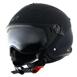 Astone Helmets MINISPORT-MBKS Casque Jet Mini Sport, Noir Mat, S