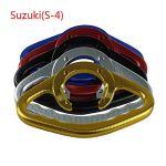 CBFYKU pour Suzuki GSXR400 600 750 1000 1100 SV650 CNC Aluminium Moto Passager Poignées Poignée Grip Réservoir Poignée Grab Bar Poignées Accoudoir (coloré : Argent)