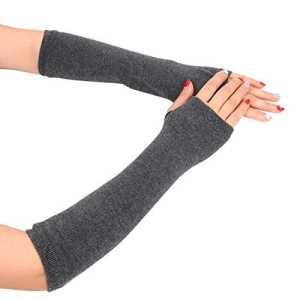 conqueror Hiver automne gants chauds gants en tricot à doigts Le réchauffeur de main de bras de poignet d'hiver a tricoté de longs gants mitaines