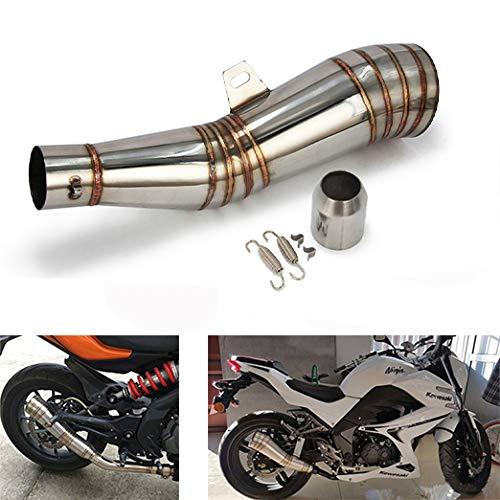 JFG RACING GP Stainelss Acier 1.5-2 «Entrée S Type D'échappement Silencieux Vent Scooter Moto Street Bike