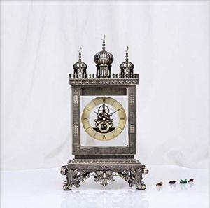 LIJIANGUO Art De La Personnalité Salle De Séjour Espoir Étoile Horloge Mode Luxe Horloge Métal Relief en Trois Dimensions
