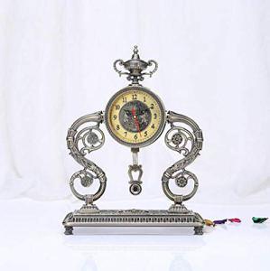 LIJIANGUO Art Mode Salle De Séjour Mécanique Horloge Bronze Forme Horloge
