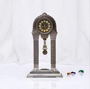 LIJIANGUO Porte De La Victoire Horloge Métal Relief Tridimensionnel Personnalité Art Salon Mode Horloge De Luxe