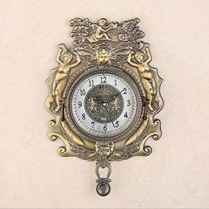 LIJIANGUO Roman Rétro Horloge Murale Personnalité Mécanique Européenne Horloge Murale