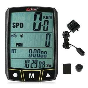 Lixada Ordinateur Vélo Bogeer Sans Fil / Filaire Vélo Stopwatch Capteur Imperméable à l'eau avec LCD Affichage Odomètre Compteur De Vitesse LED Rétro-Éclairage