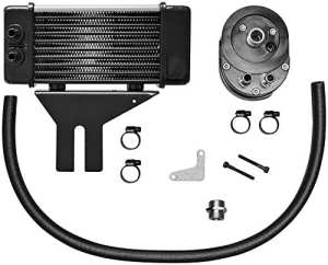 Oil cooler system kit low mount ten row chrome – … – Jagg oil coolers 07130121