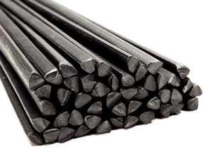 Plastique baguettes de soudure PP/EPDM Noir 6mm Triangulaire 25 Barres