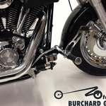 Repose-pieds annexe 12cm (brakeout), 17cm (Fatboy) anticipative Harley Davidson Softail brakeout Fatboy à partir de 2008FS2avec ABE