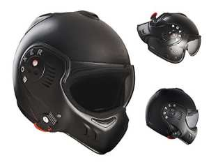 Roof Boxer V8 Full Black Flip Front Motorcycle Helmet M Matt Black