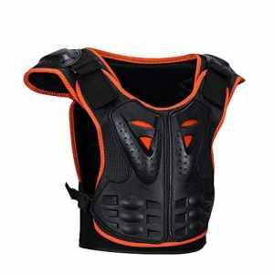 Zgsjbmh Protecteur d'armure Complet Moto Moto Motocross de Enfants Rollers Protecteur Dorsal Garde de Poitrine crête Nuit Armure réfléchissante Enfants Armure vêtements (Taille : S)