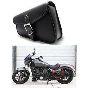 1 Pcs Moto Side Saddlebag PU En Cuir Étanche Gauche Côté Bagages Outil Sac Noir