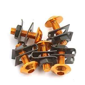 5pcs Ton Or carénage Boulons hexagonaux vis hexagonale avec Support métal