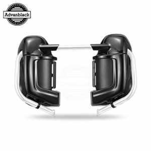 Advanblack Lower Ventilé Carénage Fit pour Harley Davidson Tournée Route Electra Glide Roi FLHR 1983-2016 Pré-Rushmore Leg carénages Kits boîte à Gants Vivid Noir