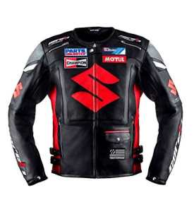 Blouson de Racing de Moto en cuir Noir XL(EU56)