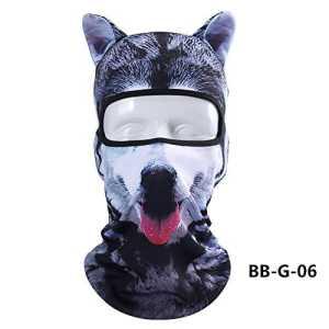 Cagoule Masque de Protection Visage Unisexe, ChunTian Design 3d Animal Masque Complet anti UV Respirant Multi-fonctions pour Outdoor Moto Cyclisme Camping Randonnée Sport/Coupe-vent/Anti-poussière