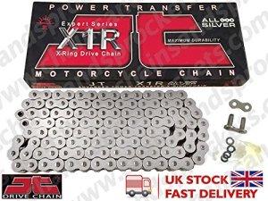 JT x-ring argento-argento 525x 1R/112chaîne ouverte avec Rivet à battue