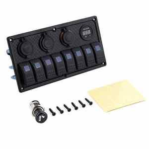 Modification du automobile pour véhicules récréatifs RV 4jeux de Combinaison mixtes avec Les accessoires du panneau d'éclairage + 2USB + table de tension