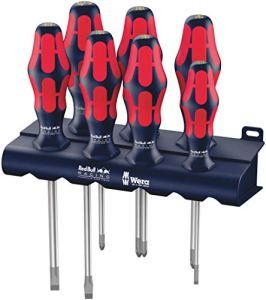 Wera Red Bull Racing Jeu de tournevis Kraftform Plus Lasertip + Rack, 7pièces, 05227700001