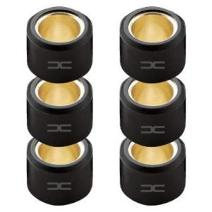 (6x) GALET DE VARIATEUR 15x12MM 3.0G A 9.0G SCOOTER MBK BOOSTER NITRO OVETTO STUNT YAMAHA BWS AEROX NEOS MOTO MOBYLETTE TENDEUR ROULEAU (4.0G)