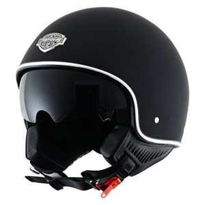 Astone Helmets – Minijet 66 – Casque jet vintage – Casque style rétro US – Casque de moto en polycarbonate – matt black