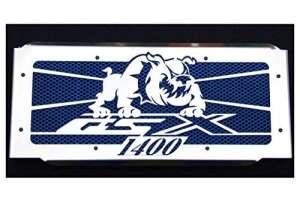 Cache radiateur/Grille de radiateur 1400 GSX Bulldog + Grillage Bleu