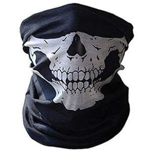 Folewr-8 Chapeau Chaud Unisexe à Col Tubulaire en Hiver Casque pour Activités de Plein Air, Foulard, Écharpe Squelette Crâne d'horreur Magique (A)