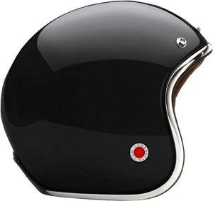 Lambretta casque Carbone Ultra léger homologation européenne Marque M noir brillant