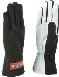 RaceQuip 350005 350 Series Large Black Single Layer Driving Gloves by RaceQuip