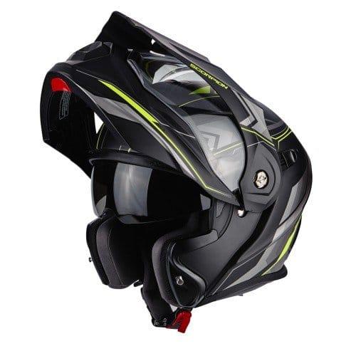 SCORPION Casque Motocorpion ADX 1 ANIMA, Noir/Jaune, Taille L