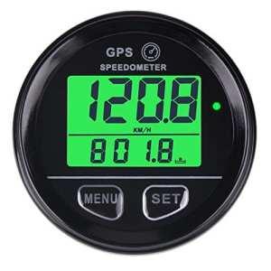 Searon GPS numérique rétroéclairé Compteur de vitesse Odomètre Étanche avec rappel de limitation de vitesse pour VTT VUT Moto Automobile Véhicule à moteur