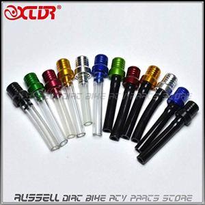 Sellify Accessoires et pièces en aluminium coloré carburant TankCap reniflard Tuyau cristal Tube & tube noir pour Dirt Bike