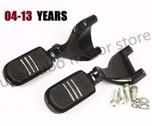 Support de repose-pied noir pour moto et montage masculin pour Harley Sportster 883 1200 04-13