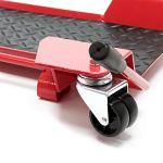 WilTec Chariot Roulant Range Moto Aide à manœuvre et stationnement Support Rail 60x42x7,5 cm Jusqu'à 250kg