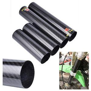 Wingsmoto Protège-pellicule de protection pour fourche avant en fibre de carbone pour vélo de saleté