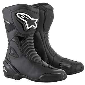 Alpinestars Bottes moto Smx S Waterproof Black Black, Noir/Noir, 44