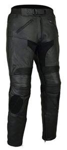 Bikers Gear Lt1005rasoir Sport Pantalon de cuir amovible CE renforcé Cuir Pantalon avec curseurs UE 42S 52S 4x L/short