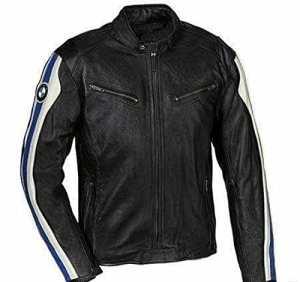 BMW Noir Style moto Veste en cuir pour moto vélo de course Veste en cuir