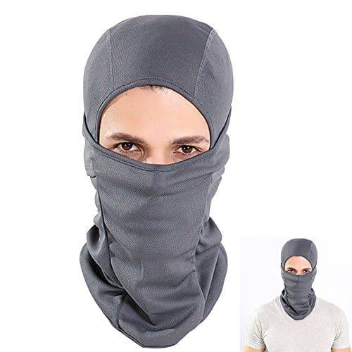 Cagoule Moto Balaclava, Face Cou Masqu Jeu de Plein Air et Sport Cagoule Anti Froid (Gris)