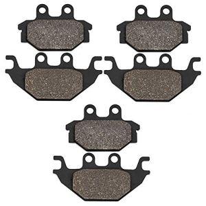 Cyleto Plaquettes de frein avant et arrière pour KYMCO MXU 250 R 2012 2013 / MXU 300 2005-2014 / MXU 300 R 2010 2011 2012 2013 / MXU 500 4×4 Carb Modèles 2005-2013