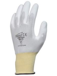 Gants SYNTHETIQUES Polyester Blanc End PU T6-8