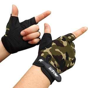Lolittas Homme AntidéRapant Gants Fitness Mouvement Ride Garder Au Chaud Populaire Gants (Camouflage, L)