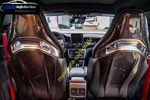 Max Auto Carbon VOLL Dry Housse de siège en Carbone pour AMG A45 C63 CLA45 GLA45 A35 E63 GLC63 avec Assise Performance
