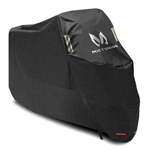 MICTUNING Housse de Protection Etanche pour Moto 210D Oxford Anti-déchirure Anti-UV/Poussière 265 x 105 x 125 cm avec Trou Antivol pour Honda, Yamaha, Suzuki, Harley,etc.