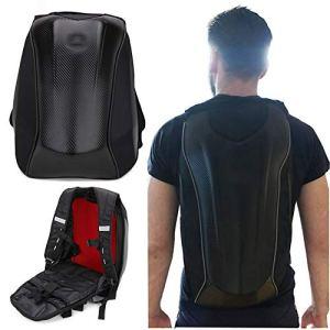 Moto Sac à dos étanche Sac à dos Coque rigide – Fibre de Carbone casque de moto Sac à dos étanche Grande capacité de 30L – d'équitation sacoche pour ordinateur portable pour voyage Camping
