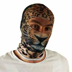 Multifonctionnel Cagoule 3D de Protection Hiver Masque pour de Ski Moto Paintball Outdoor Halloween Tiger [076]