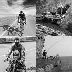 Ninjia Unisexe Cagoule Balaclava – Équipement de Sport/Coupe-Vent/Anti-poussière Cagoule/Réglable équitation Masque,Rose Rouge