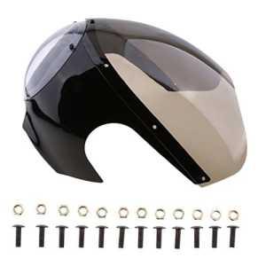 Sharplace Carénage Capot avec Pare-Brise De Phare De Moto Café Racer avec Kit De Boulons