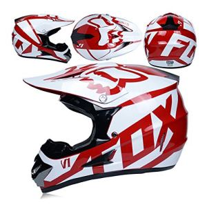 Adulte Motocross Casque Lunettes De Protection Masque Gants Moto Racing Full Face Casque pour Homme Et Femme,B,L