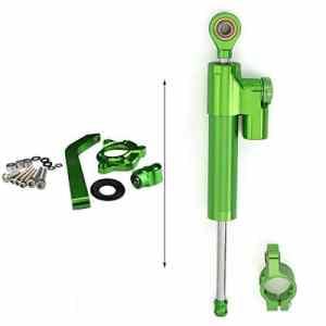 amortisseur et stabilisateur de direction Tampon Barre de contrôle avec support de montage pour KAWASAKI Z1000 2010 2011 2012 2013 Aluminium Tout Green