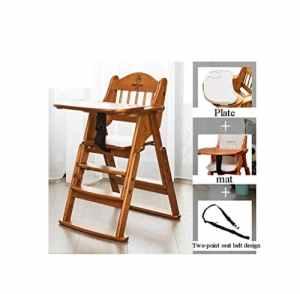 Chaise de salle à manger pour enfants en bois Chaise de salle à manger pour enfants épaississante portable de mode rétro stable (Couleur : Brown-68 * 50 * 92cm)